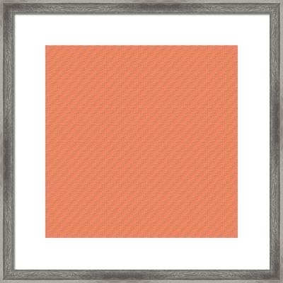 Deep Peach Framed Print by Bonnie Bruno