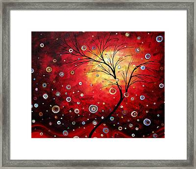 Deep Red By Madart Framed Print by Megan Duncanson