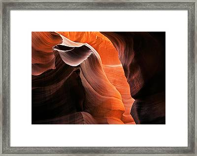 Deep Red Glow Framed Print by Mike  Dawson