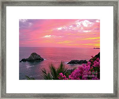 Deep Red Sea Framed Print