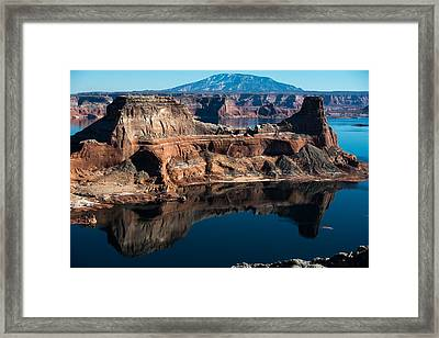 Deep Reflections In Lake Powell Framed Print
