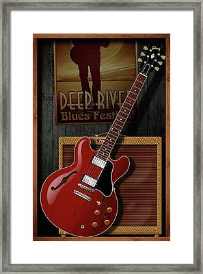 Deep River Blues Framed Print