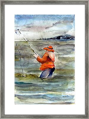 Deep Sea Fisherman Framed Print by Mindy Newman