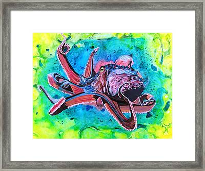 Deep Sea Hunt Framed Print by David Raderstorf