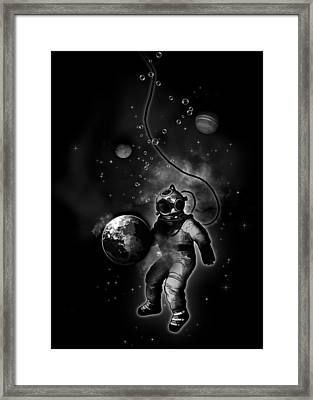 Deep Sea Space Diver Framed Print by Nicklas Gustafsson