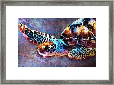 Deep Sea Trutle Framed Print