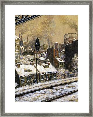 Deep Snow Framed Print by MotionAge Designs