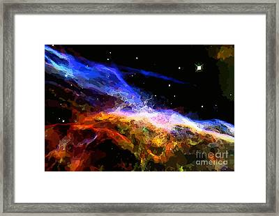Deep Space Abstraction Framed Print by John Malone