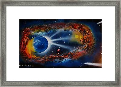 Deep Space Cavern Framed Print by Mario Carta