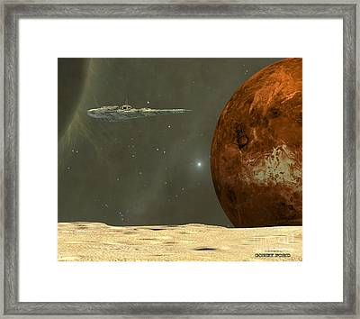 Deep Space Framed Print by Corey Ford