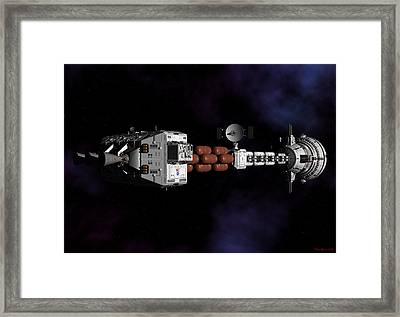 Framed Print featuring the digital art Deep Space by David Robinson