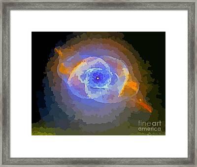 Deep Space Eye One Framed Print by John Malone