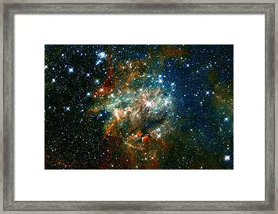Deep Space Star Cluster Framed Print
