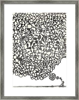 Framed Print featuring the drawing Deep Thoughts by Jean Haynes