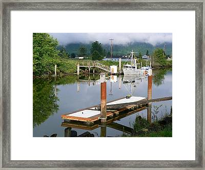 Deep Water Channel Framed Print by Pamela Patch