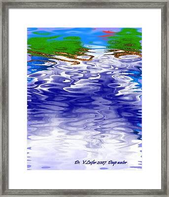 Deep Water Framed Print by Dr Loifer Vladimir