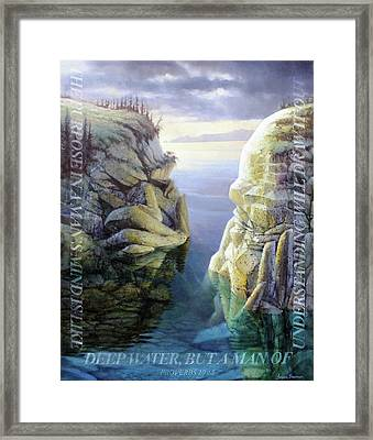 Deep Water Framed Print by Graham Braddock