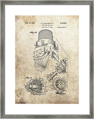 Deep Well Drill Bit Patent Framed Print by Dan Sproul