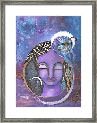 Framed Print featuring the mixed media Deep Within by Prerna Poojara