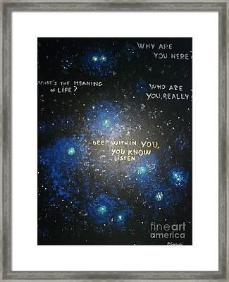 Deep Within You Framed Print by Piercarla Garusi