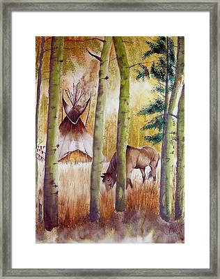 Deep Woods Camp Framed Print