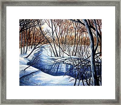 Framed Print featuring the painting Deep Woods Wisconsin by Thomas Kuchenbecker