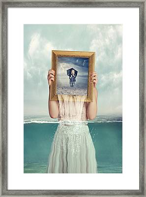 Deeper Framed Print by Baden Bowen