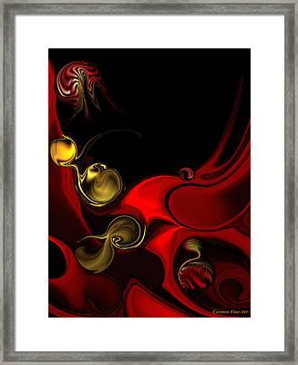 Framed Print featuring the digital art Deeper Reappearance Of High Energy by Carmen Fine Art