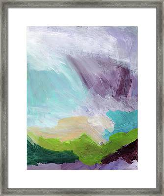 Deepest Breath- Abstract Art By Linda Woods Framed Print by Linda Woods