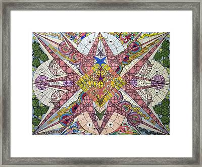 Deepest Depths Of The Oceans Framed Print by William Douglas