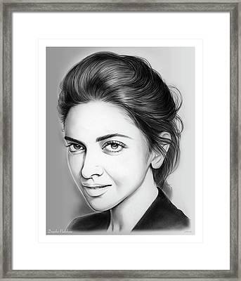 Deepika Padukone Framed Print by Greg Joens