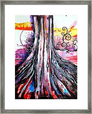 Deeply Rooted II Framed Print by Shadia Zayed