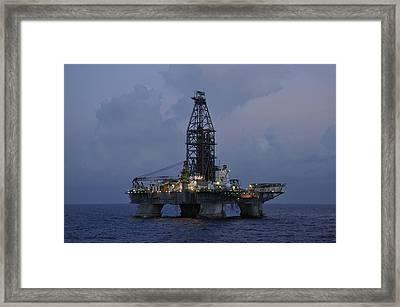 Framed Print featuring the photograph Deepwater Horizon Twilight by Bradford Martin