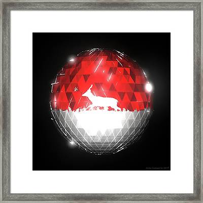 Deer Bauble - Frame 10 Framed Print
