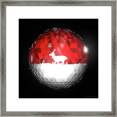 Deer Bauble - Frame 103 Framed Print