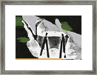 Framed Print featuring the mixed media Deer by Bill Thomson