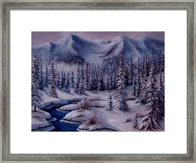 Deer Creek Framed Print