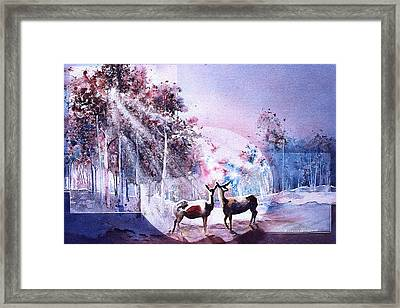 Deer Enchantment Framed Print