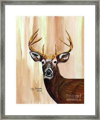 Deer Head Framed Print