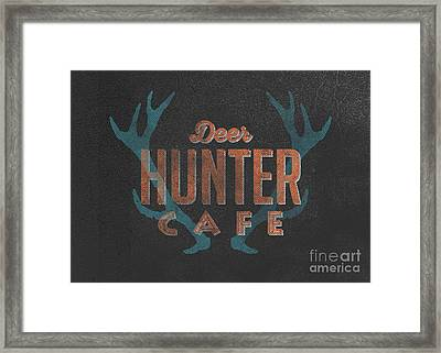 Deer Hunter Cafe Framed Print