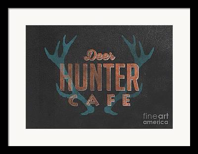 Whitetail Deer Drawings Framed Prints