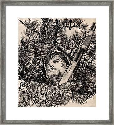 Deer Hunter Framed Print