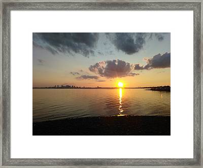 Deer Island Sunset Framed Print