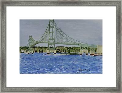 Deer Isle Bridge, Stonington Maine Framed Print by David Malia