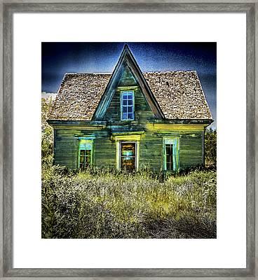 Deer Isle Haunted House Framed Print