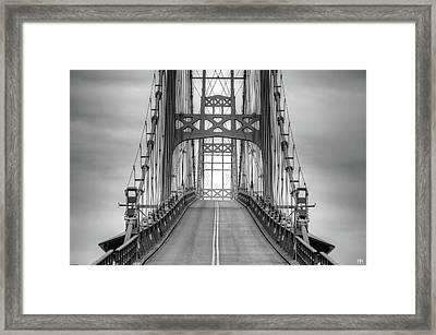 Deer Isle Sedgwick Bridge Framed Print