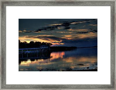 Framed Print featuring the photograph Deer Isle Sunset I by Greg DeBeck