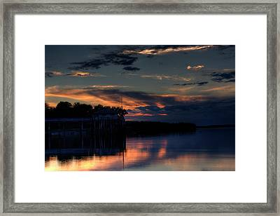 Framed Print featuring the photograph Deer Isle Sunset II by Greg DeBeck