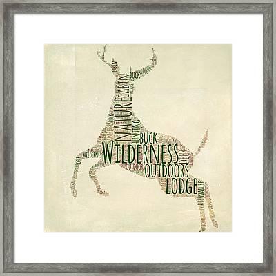 Deer Leaping Framed Print