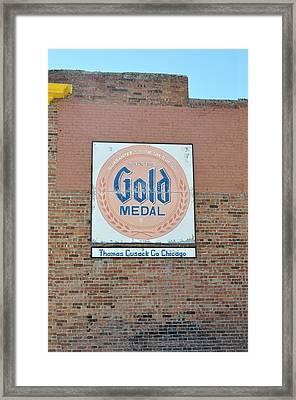 Deer Lodge Montana - Gold Medal Framed Print